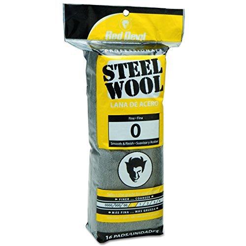 Red Devil 0313 Steel Wool, 0 Fine, 16 Pads by Red Devil