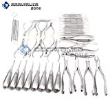 OdontoMed2011 DENTAL EXTRACTION PRO FORCEPS ELEVATORS PLIERS CURETTES PROBES FORCEPS SCALERS FILLING 50 PIECES INSTRUMENTS ODM