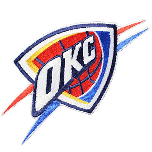 Official Oklahoma City Thunder Logo Large Sticker Iron On NBA Basketball Patch Emblem by Patch Collection