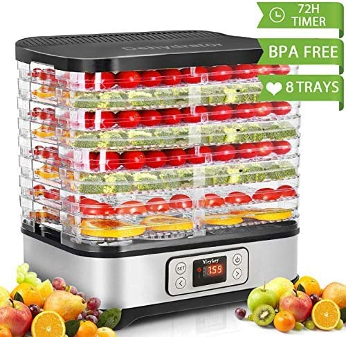 Homdox Food Dehydrator Machine, Digital Timer, and Temperature Control, 8 Trays - Diverse