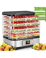 COOCHEER Essiccatore frutta e verdura,Timer di 72 ore,Essiccatore Alimentare,250W,Display LCD,Temperatura regolabile