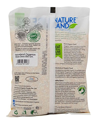 NatureLand Organics Maize Dalia 17.63 Ounce - USDA Certified