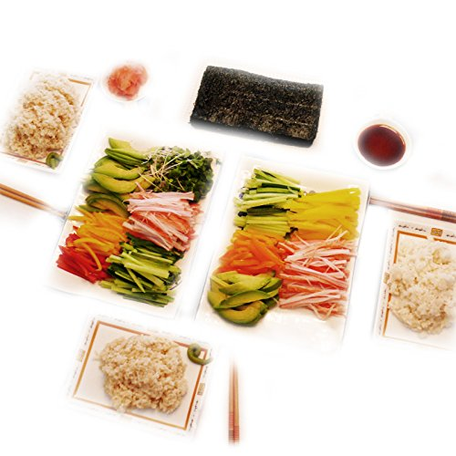 Kaneyama Yaki Sushi Nori / Dried Seaweed (Vacuum-packed/re-sealable), Gold Grade, Full Size, 10 Packs of 50 Sheets by Kaneyama (Image #1)