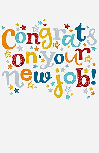 congrats on your new job congratulation multi colour greeting card