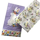 2x20-ct Purple Bunny Easter Napkins | Easter Paper