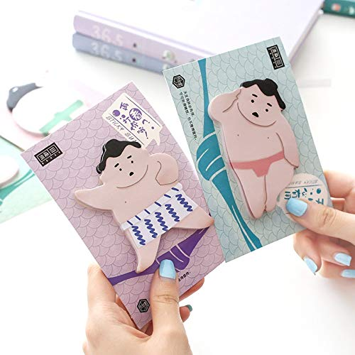 Tini Sticky Notes - Pcs Sumo Sticky Note Japanese Wrestling Memo Pad Funny Sticker Diary Notes Stationery Office Accessories School Supplies 6644 1 Pcs]()