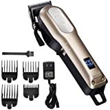 XBlade Hair Clipper for Men Professional Cordless Built-in 2000mAh, Rechargeable Li-ion Battery with LED display, Stainless Steel Blade, Powerful Motor - Gold