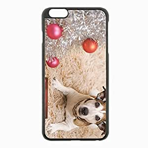iPhone 6 Plus Black Hardshell Case 5.5inch - dog carpet year Desin Images Protector Back Cover