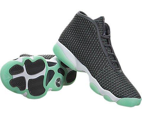 Jordan Men's Jordan Horizon Dark Grey/White/Hypr Trq/Anthrct Basketball Shoe 10.5 Men US