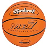 Markwort MB7 Series Rubber Basketball - Orange