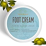 Image of Foot Cream, Foot Moisturizer- Softens And Intensively Hydrates For Thick, Cracked, Rough, Dead and Dry Skin With Olive Oil