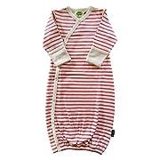 Parade Organics Kimono Gowns - Signature Prints Raspberry Breton Stripes 0-3 Months