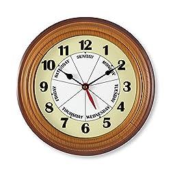 Framed Week Day Wall Clock