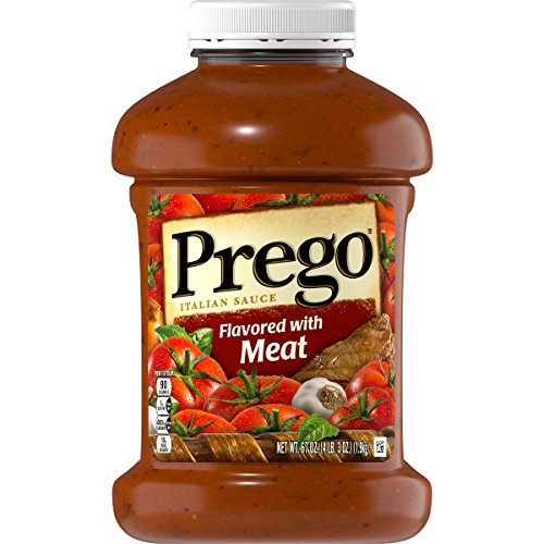 Prego Pasta Sauce, Italian Tomato Sauce with Meat, 67 Ounce -