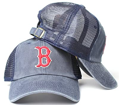 Boston Red Sox MLB American Needle Raglan Bones Soft Mesh Back Slouch Twill Cap
