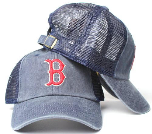 Boston Red Sox MLB American Needle Raglan Bones Soft Mesh Back Slouch Twill Cap Athletic Jersey Mesh Cap