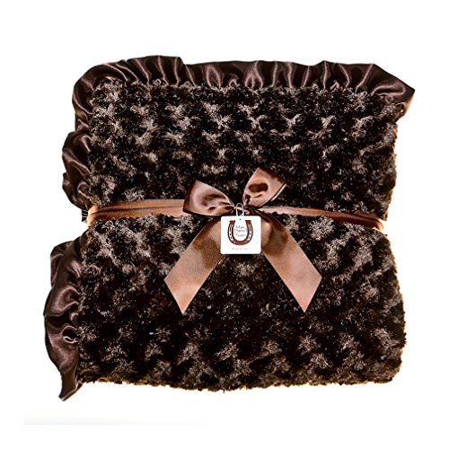 Max Daniel Chocolate Rosebuds Adult Throw - Double Sided ...