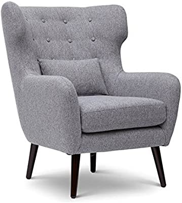 Jofran Mid Century Modern Accent Chair in Gray Finish