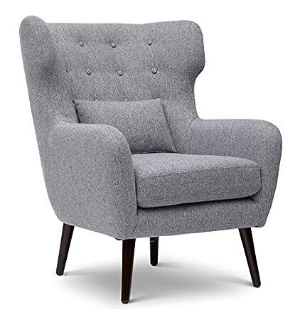 Amazoncom Jofran Mid Century Modern Accent Chair In Gray Finish