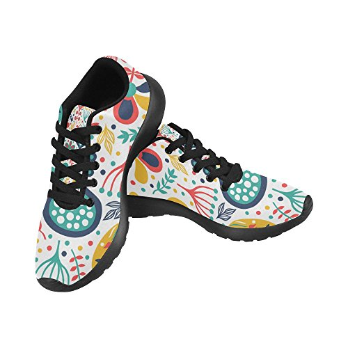 InterestPrint Womens Road Running Shoes Jogging Lightweight Sports Walking Athletic Sneakers Tropic Leaves qJpD7JEX