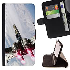 For Samsung Galaxy Note 3 III Star Wars X Wing Style PU Leather Case Wallet Flip Stand Flap Closure Cover