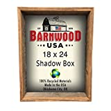 "BarnwoodUSA | Rustic Farmhouse Collectible Shadow Box Picture Frame | Made of 100% Reclaimed and Recycled Wood | Shadow Box Style to Display Collectibles, Photos, Antiques | Made in USA | 18""x24"" For Sale"