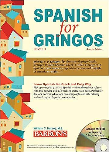 Amazon com: Spanish for Gringos, Level 1: with MP3 CD (Barron's