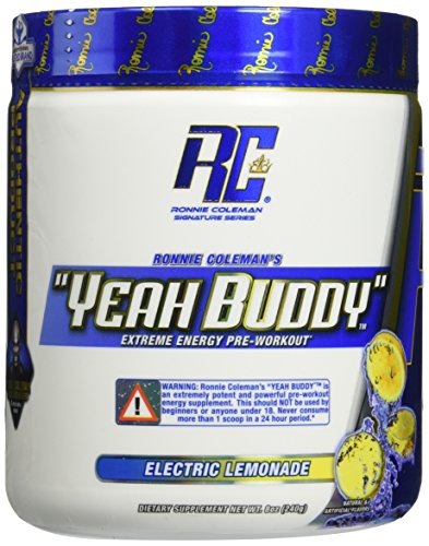 Ronnie Coleman Signature Series Yeah Buddy 30 Serve Pre-Workout Supplement, Electric Lemonade, 240 Gram