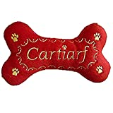 Dog Diggin Designs Cartiarf Bone Plush Parody Dog Toy w/ Squeaker 6'', Red