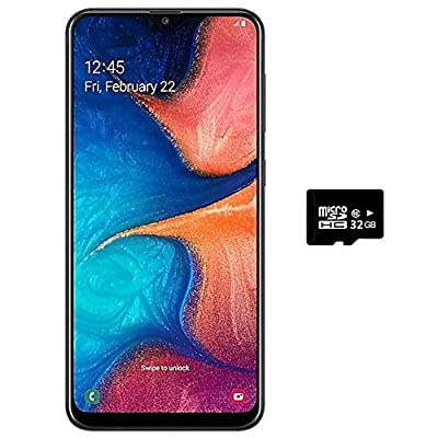 "Samsung Galaxy A20 (32GB, 3GB RAM) 6.4"" Super AMOLED, Fast Charge 4000mAh Battery, GSM Factory Unlocked A205G - US & Global 4G LTE International Model"