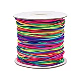 Dreamtop 100m Rainbow Color Elastic Cord Beading Thread Stretch String Craft Cord
