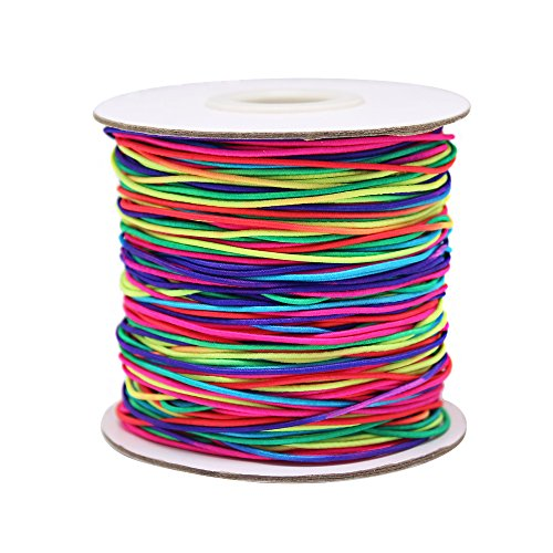 Dreamtop 100m Rainbow Color Elastic Cord Beading Thread Stretch String Craft Cord, -