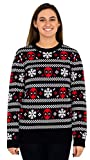 Mighty Fine Deadpool Holiday Snow Stripes Ugly Christmas Sweater (Adult Medium)