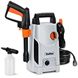 VonHaus 1600W Pressure Washer with Accessories – Outdoor Home/Patio & Car Cleaner - 90bar working Pressure/135bar Max Pressure, 330litres/hour Flow