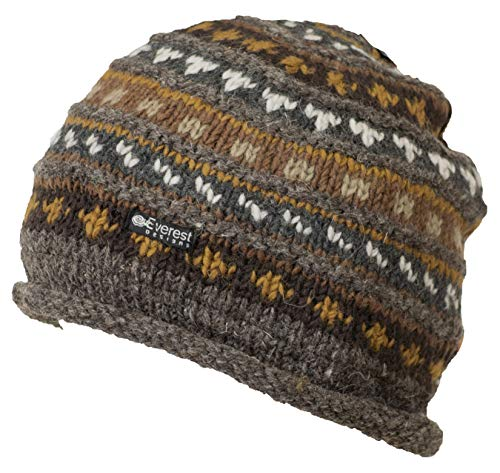 Everest Designs Unisex Roll Beanie, Ale, One Size