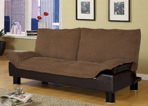 Amazon Futon Sofa Bed in Brown Microfiber Kitchen & Dining