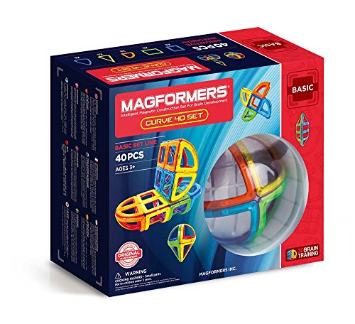 MAGFORMERS Curve (40 Piece) Magnetic Building Set