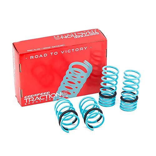 Godspeed LS-TS-SN-0001-A Traction-S Performance Lowering Springs, Reduce Body Roll, Improved Handling, Set of 4 ()