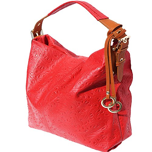 Hobo 8001s tan An With Adjustable Handle Bag Red rXHqwCr