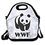 Copdsa Wildlife Fund Wwf Insulated Personalized Tote Lunch Food Bag Black