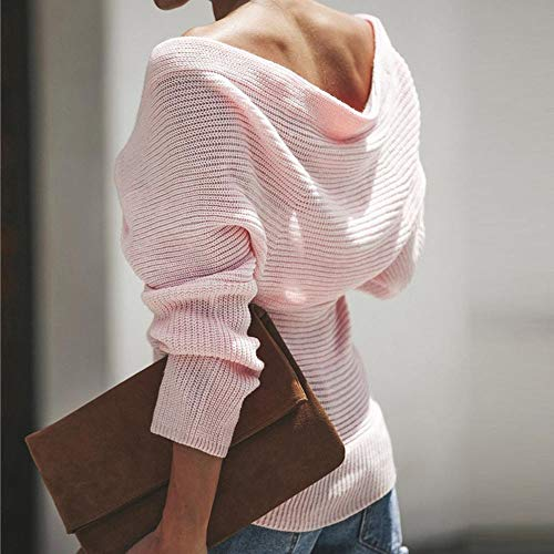 Longues Vneck Womens Off DContract Lolittas DContract Pull Manches Tricot The Pull Rose L'Paule BzawYqd