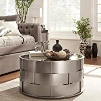 Hayes Mirror Top Metal Accent Coffee Table