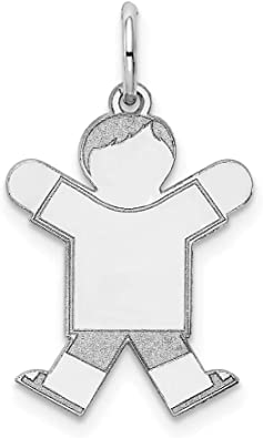 14k White Gold Kid Pendant Charm Necklace Fine Jewelry Gifts For Women For Her