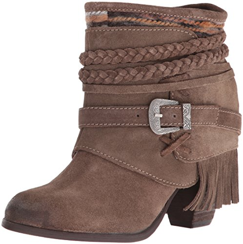 (Naughty Monkey Women's Saddle Baggin Boot, Taupe, 6.5 M US)