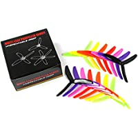 BangBang 7 Pairs Kingkong 5X4X3 5040 5 Inch 3-Blade Rainbow Colorful Propeller CW CCW for FPV Racer