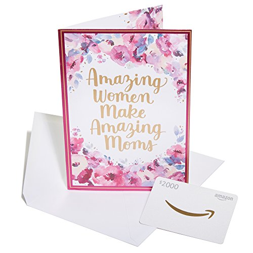 Amazon.com $2000 Gift Card in a Premium Greeting Card by American Greetings - Amazing Moms