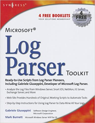 Amazon com: Microsoft Log Parser Toolkit: A Complete Toolkit