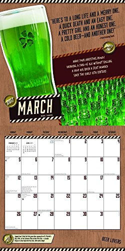 2017 Monthly Wall Calendar - Beer Lovers Photo #2