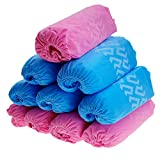 GoldskyUS 200 Pack Disposable Shoe Covers,Disposable Hygienic Boot Cover One Size Fits Most for Medical Use, Housekeeping, Real Estate (200, style 2 pink)