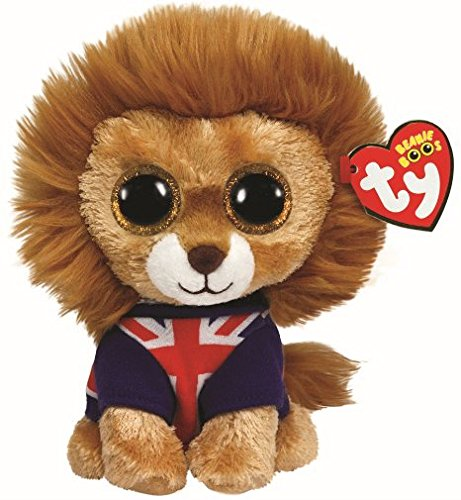 89fc763e175 Amazon.com  Hero Lion Ty Beanie Boo Uk Exclusive by Ty Beanie Boos  Toys    Games